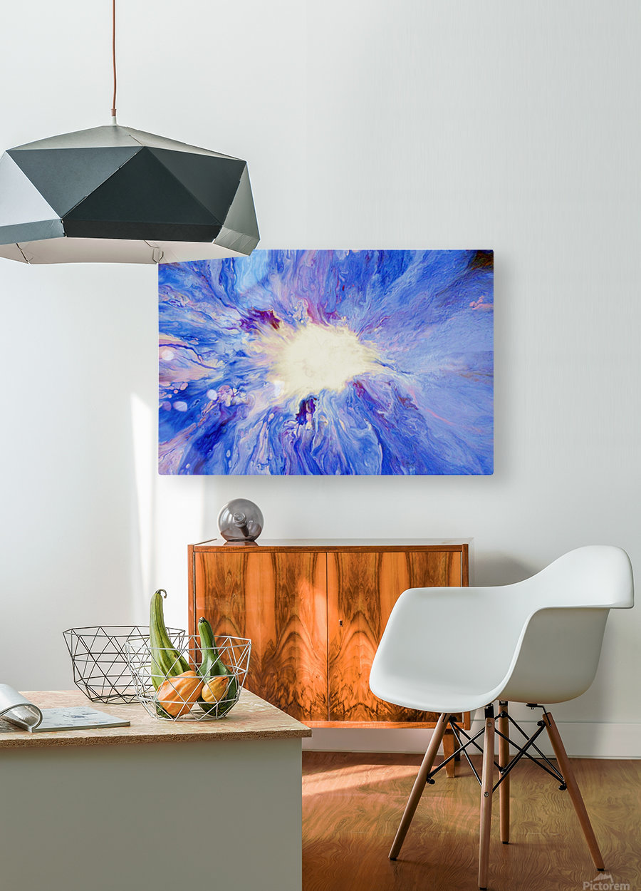Inner Light  HD Metal print with Floating Frame on Back