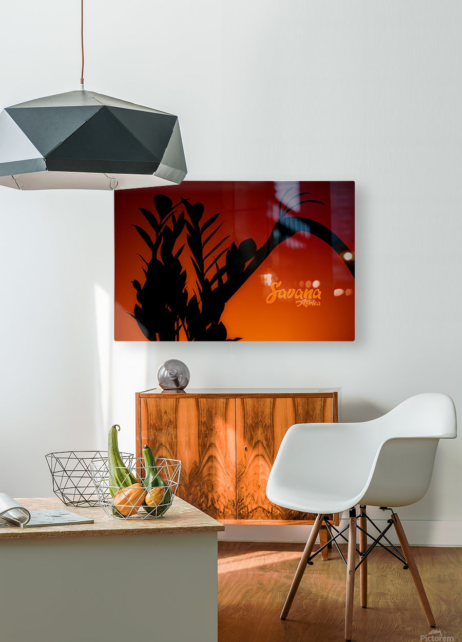 Savana Africa  HD Metal print with Floating Frame on Back