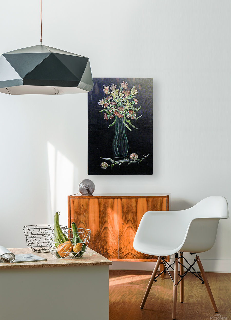 Flower Study 4  HD Metal print with Floating Frame on Back