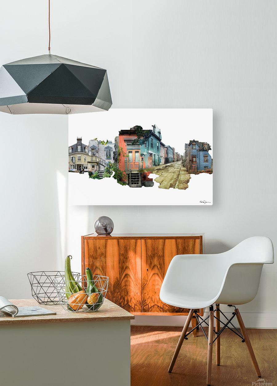 Maisons de Montréal  HD Metal print with Floating Frame on Back