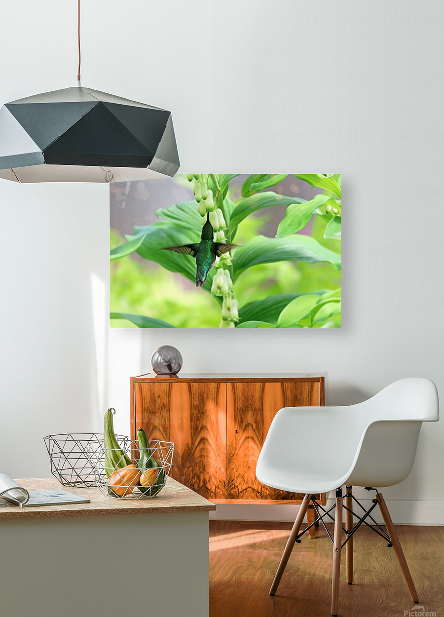 Shades Of Green  HD Metal print with Floating Frame on Back