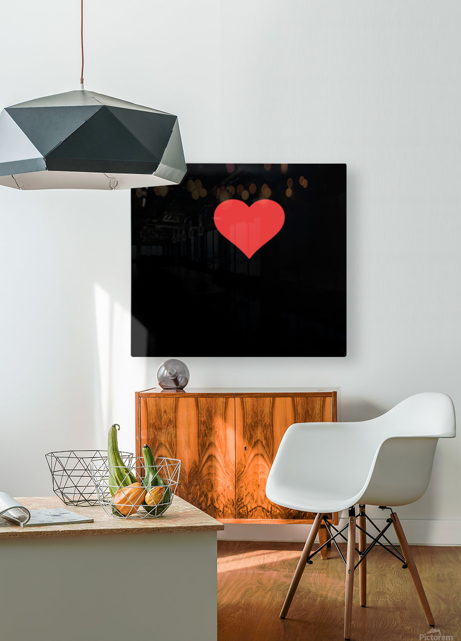 1 I Love My Mom  HD Metal print with Floating Frame on Back