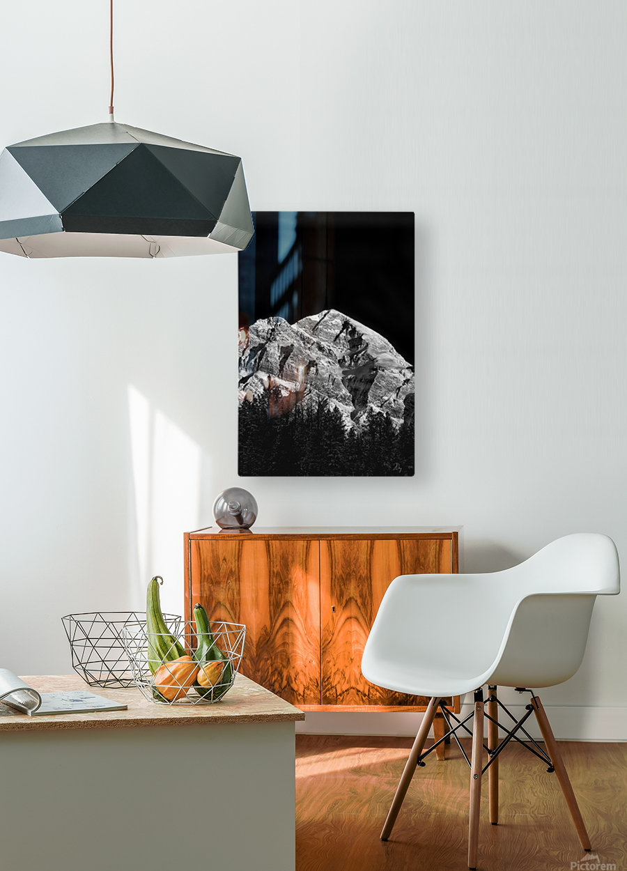 Mountain At Dawn...  HD Metal print with Floating Frame on Back