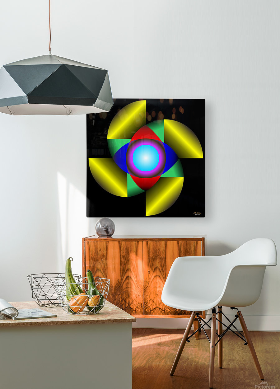 1-The Golden Ratio  HD Metal print with Floating Frame on Back
