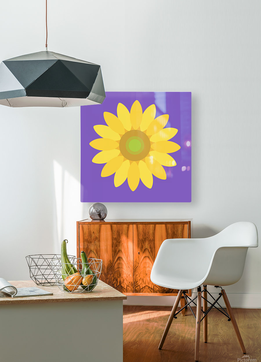 Sunflower (12)  HD Metal print with Floating Frame on Back