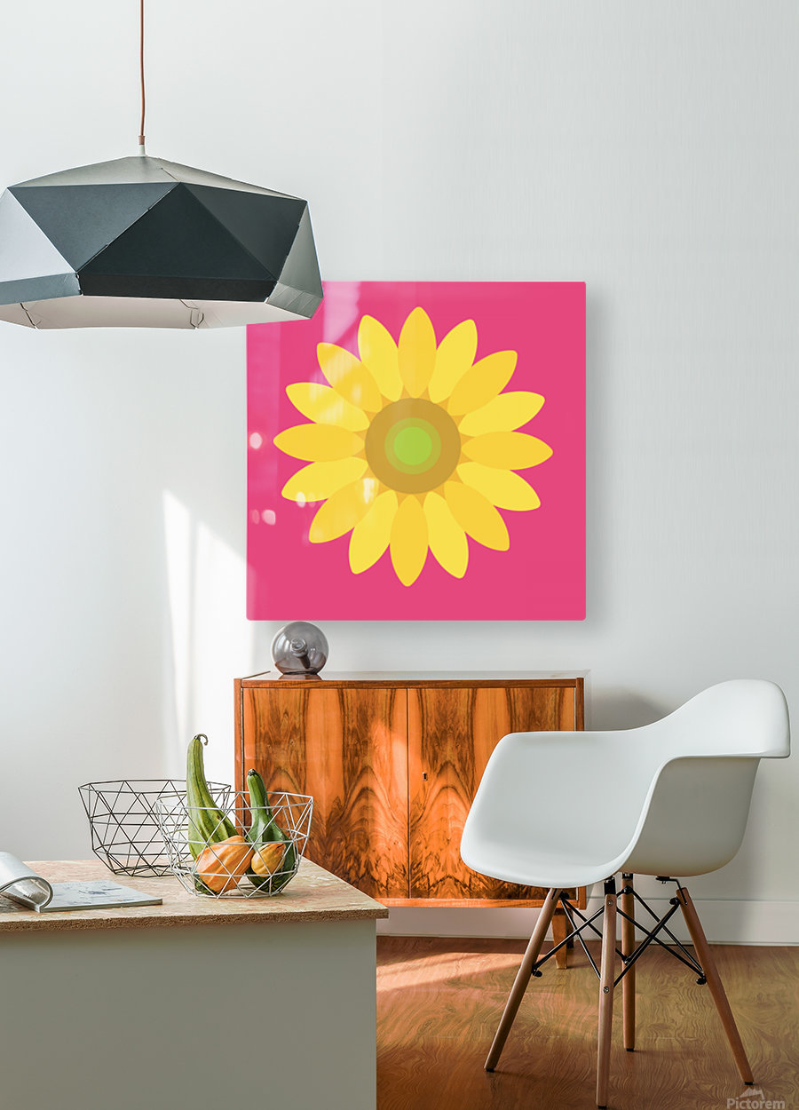 Sunflower (10)  HD Metal print with Floating Frame on Back