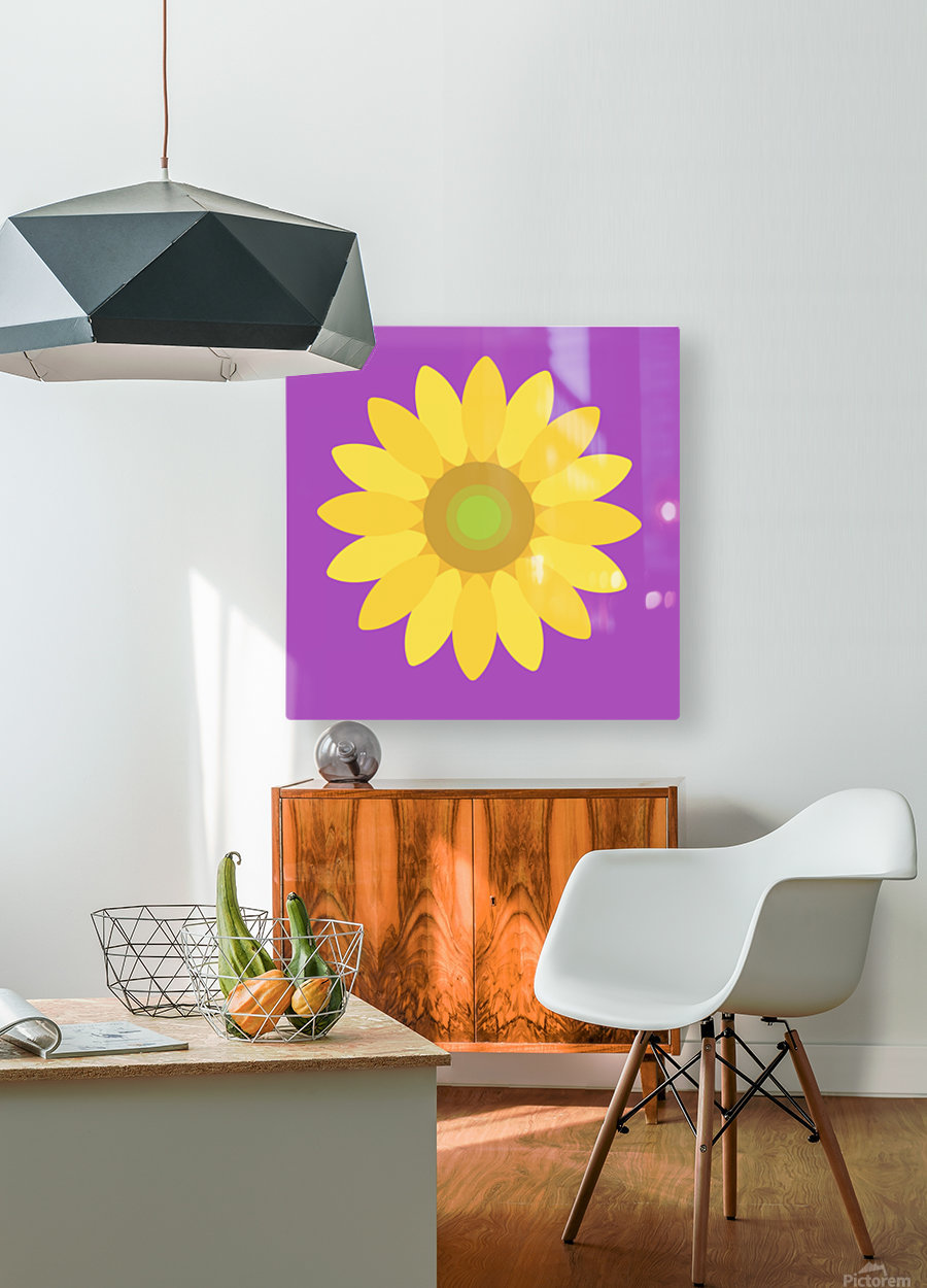 Sunflower (11)  HD Metal print with Floating Frame on Back