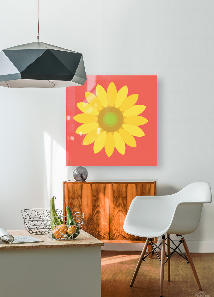Sunflower (9)  HD Metal print with Floating Frame on Back