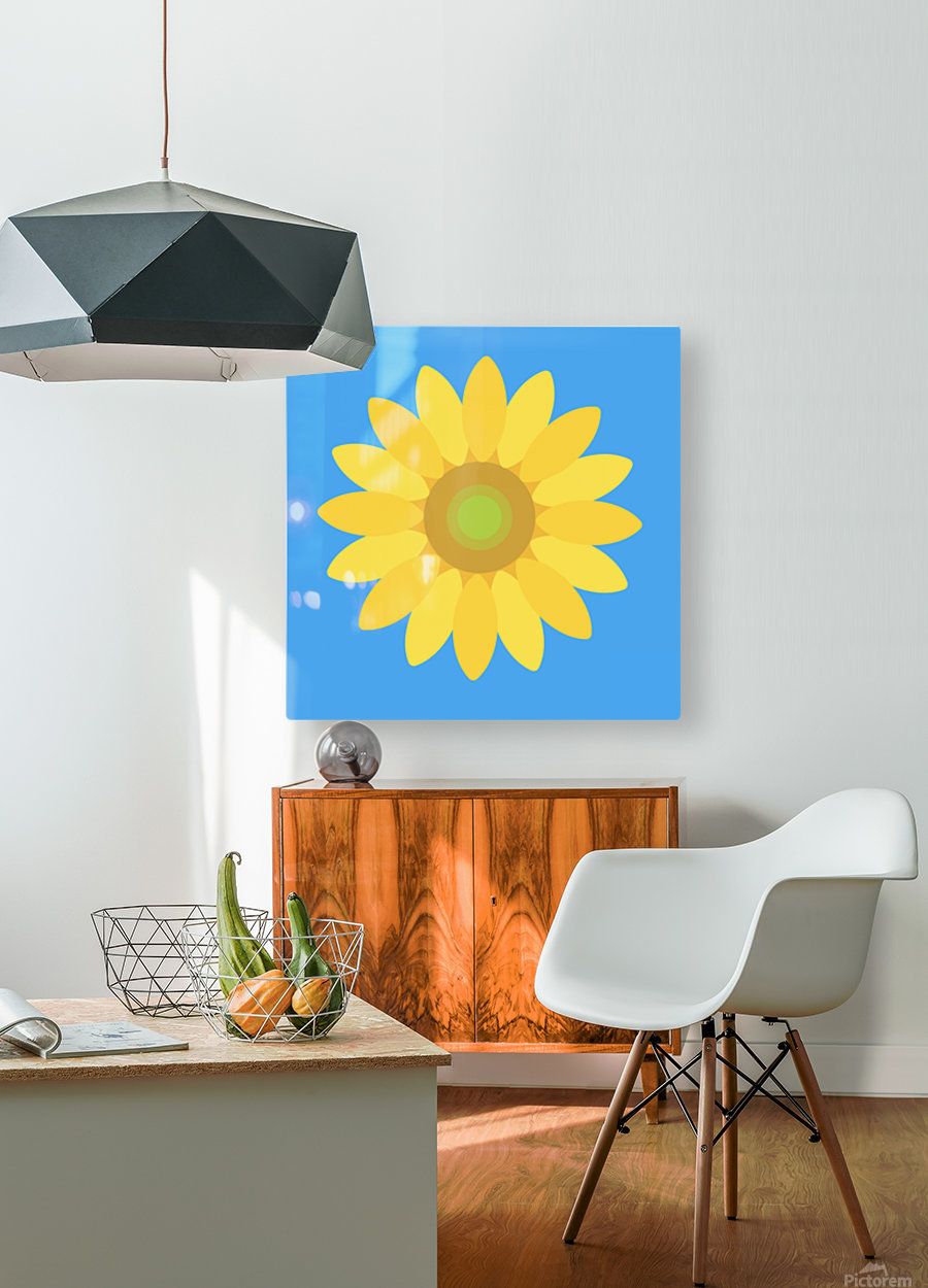 Sunflower (13)  HD Metal print with Floating Frame on Back