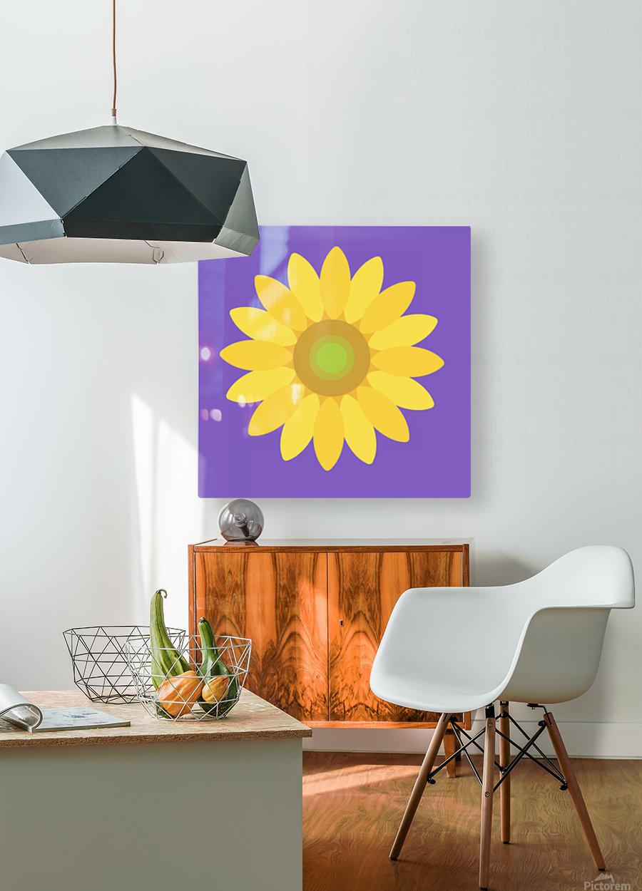 Sunflower (12)_1559875861.1864  HD Metal print with Floating Frame on Back
