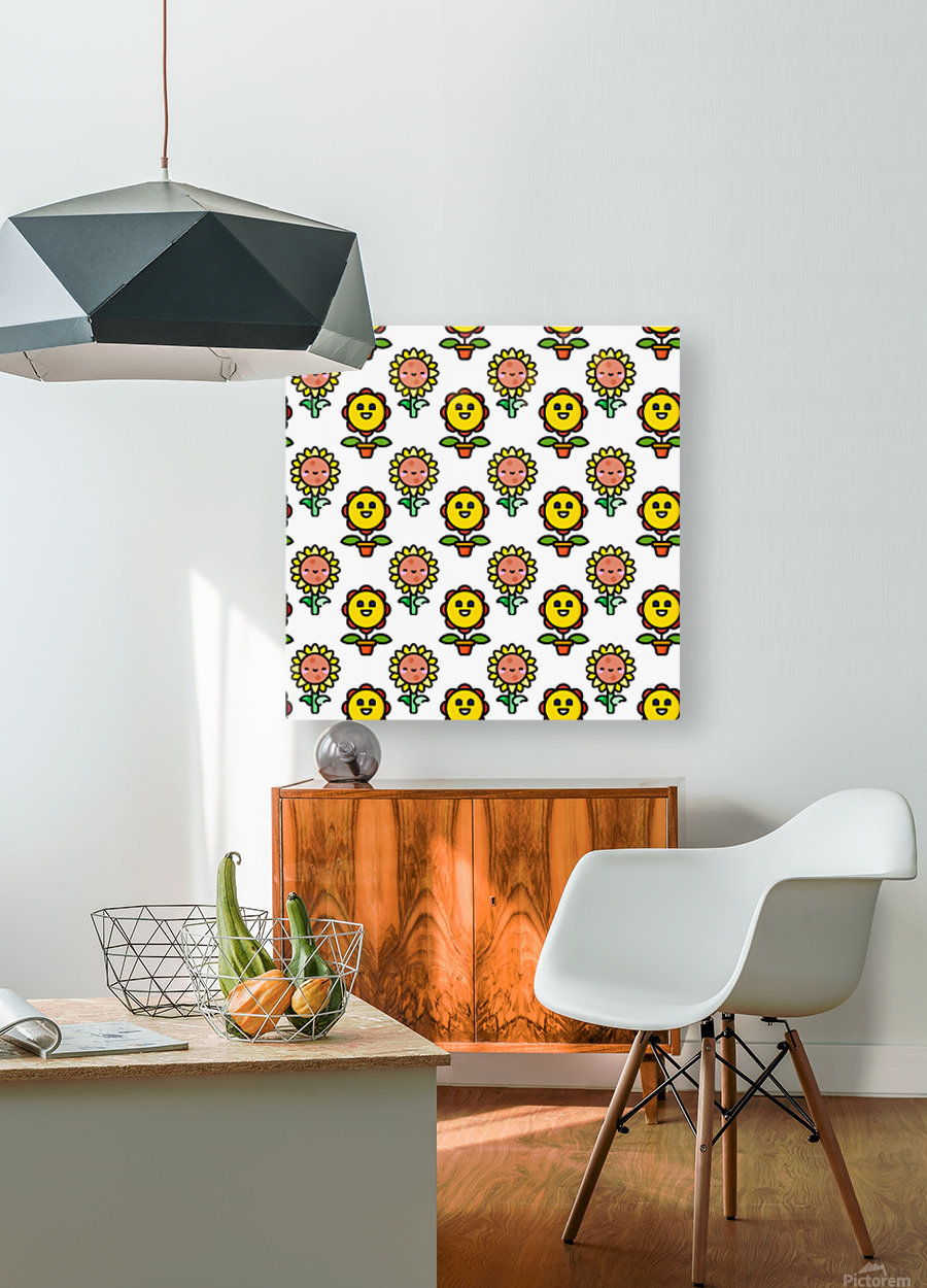 Sunflower_1559876174.8267  HD Metal print with Floating Frame on Back