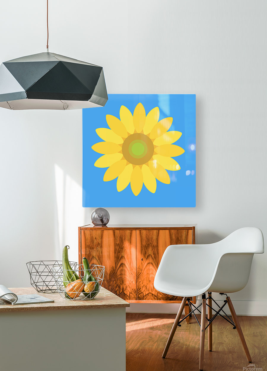 Sunflower (13)_1559876168.0505  HD Metal print with Floating Frame on Back