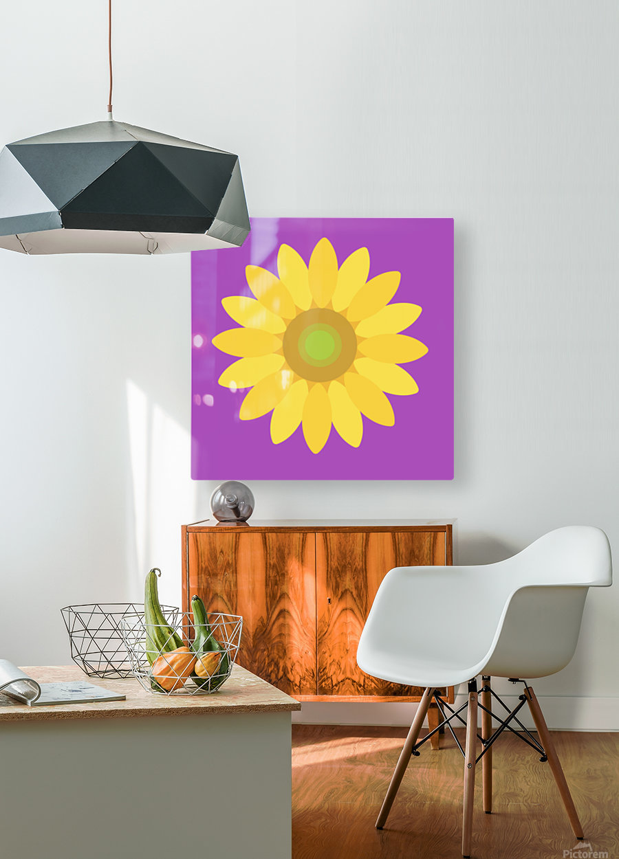 Sunflower (11)_1559876482.665  HD Metal print with Floating Frame on Back