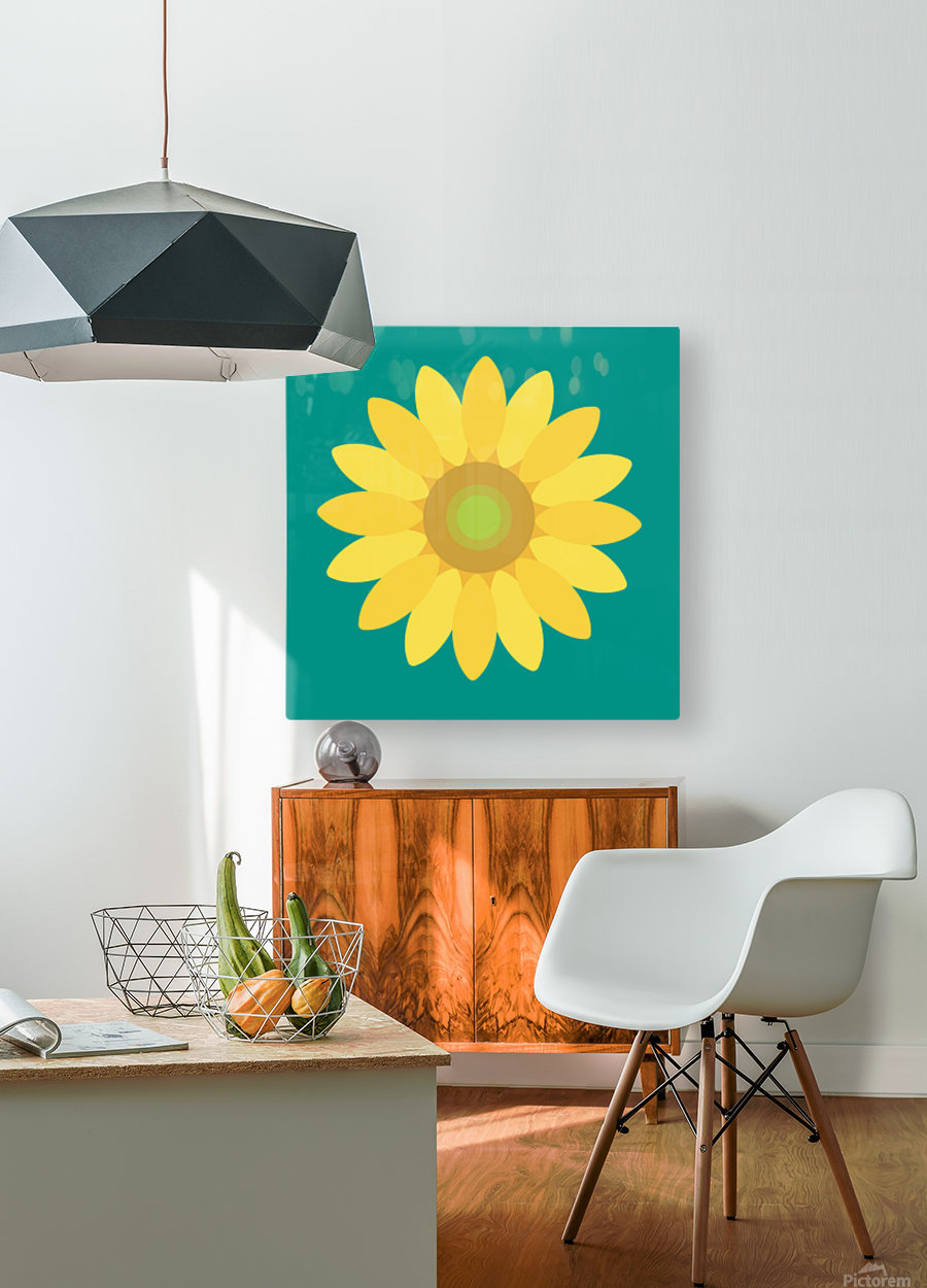 Sunflower (15)_1559876665.7687  HD Metal print with Floating Frame on Back
