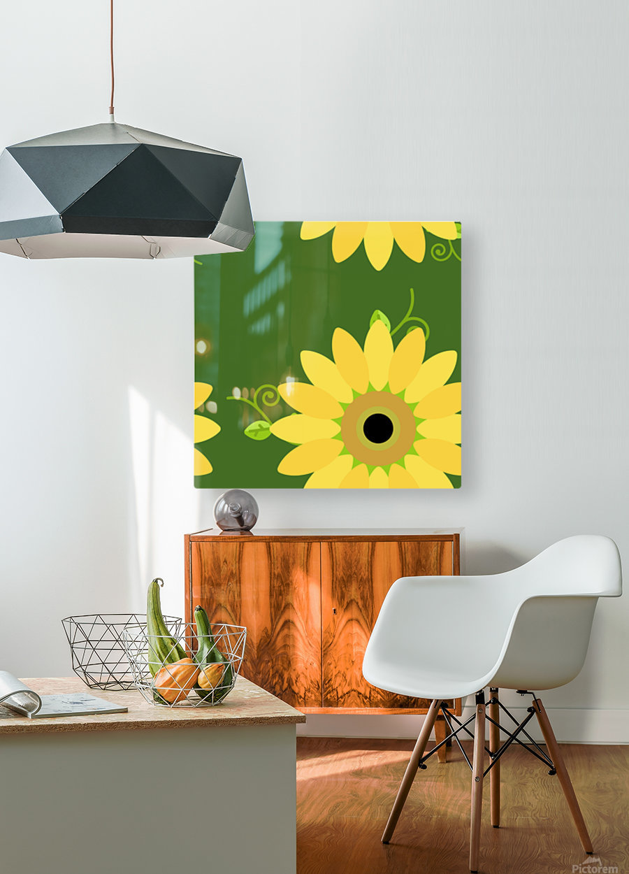 Sunflower (59)_1559876653.1233  HD Metal print with Floating Frame on Back