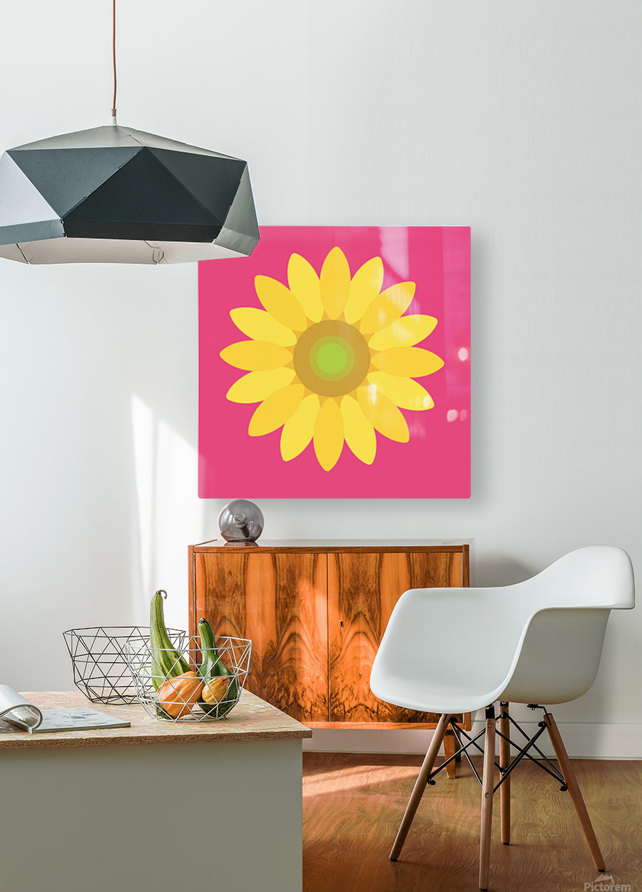Sunflower (10)_1559876665.7513  HD Metal print with Floating Frame on Back