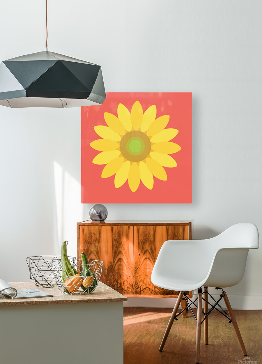 Sunflower (9)_1559876665.3835  HD Metal print with Floating Frame on Back