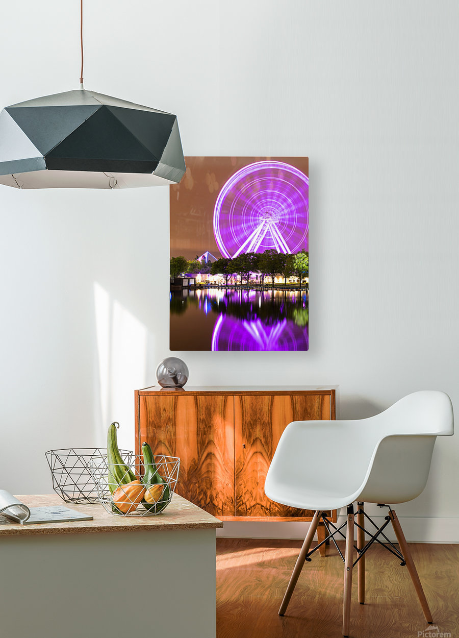 La Grande Roue de Montréal  HD Metal print with Floating Frame on Back