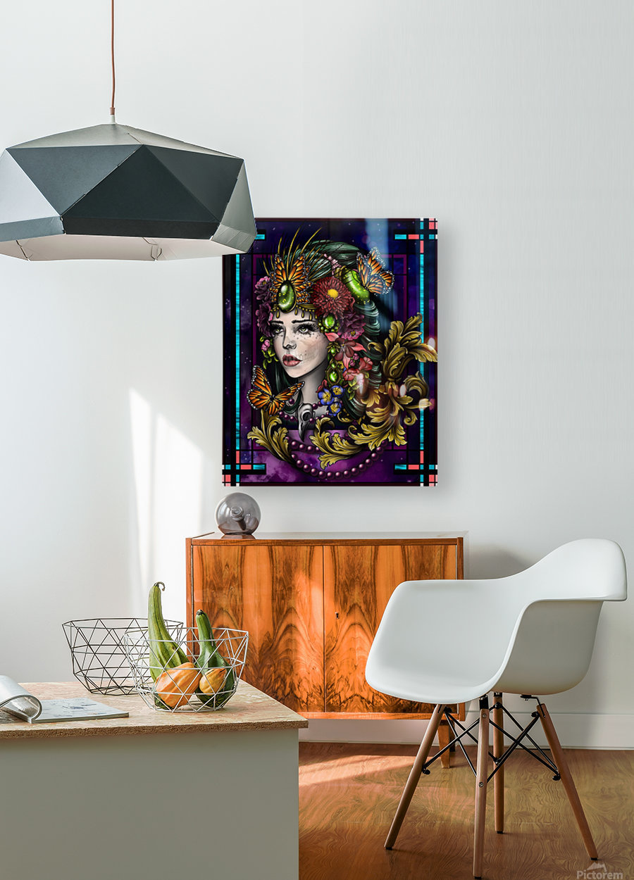 Rhea   HD Metal print with Floating Frame on Back