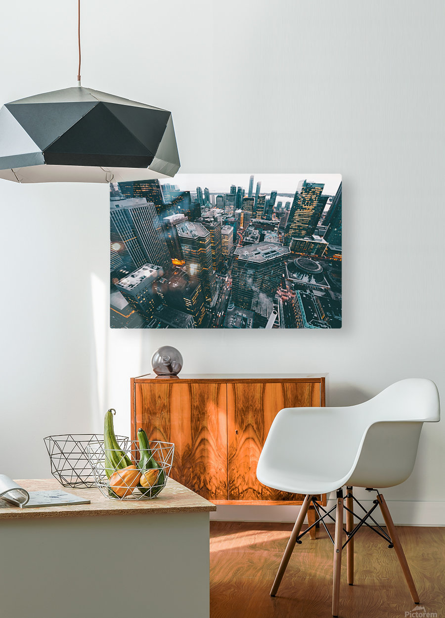New York Architectural design  HD Metal print with Floating Frame on Back