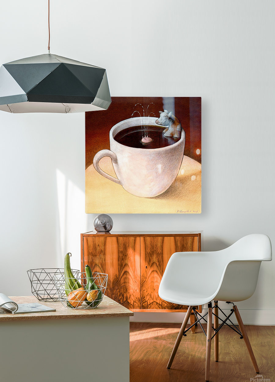 Coffee with milk  HD Metal print with Floating Frame on Back