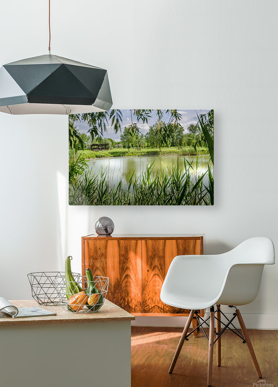 Summer Lake  HD Metal print with Floating Frame on Back