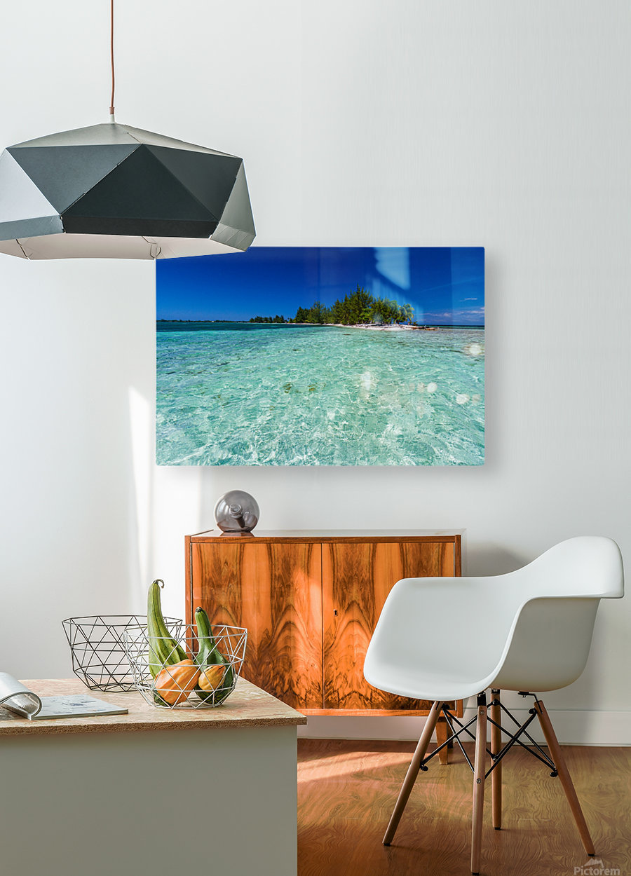 Tropical Cay  HD Metal print with Floating Frame on Back