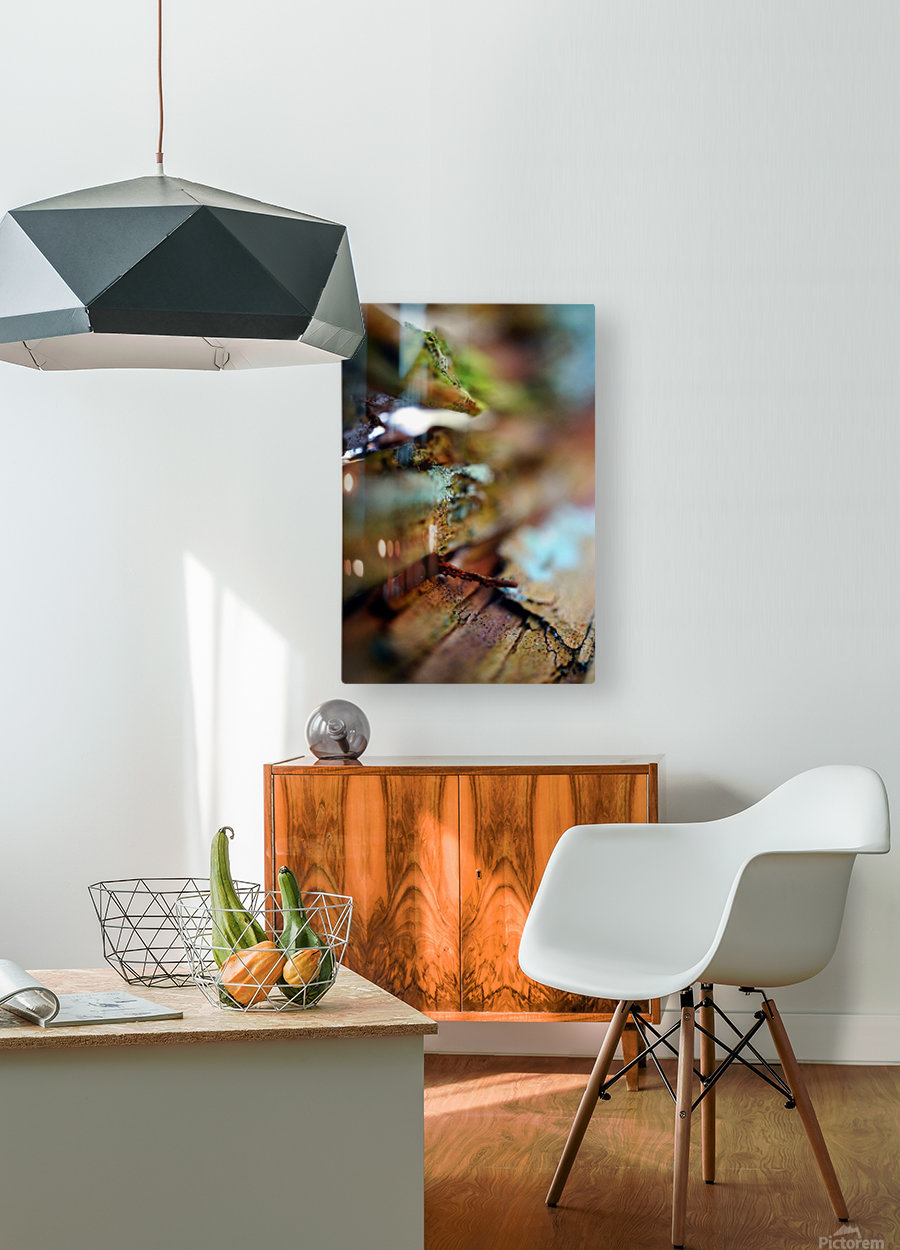 Abstract Macro Nature Photography 95  HD Metal print with Floating Frame on Back