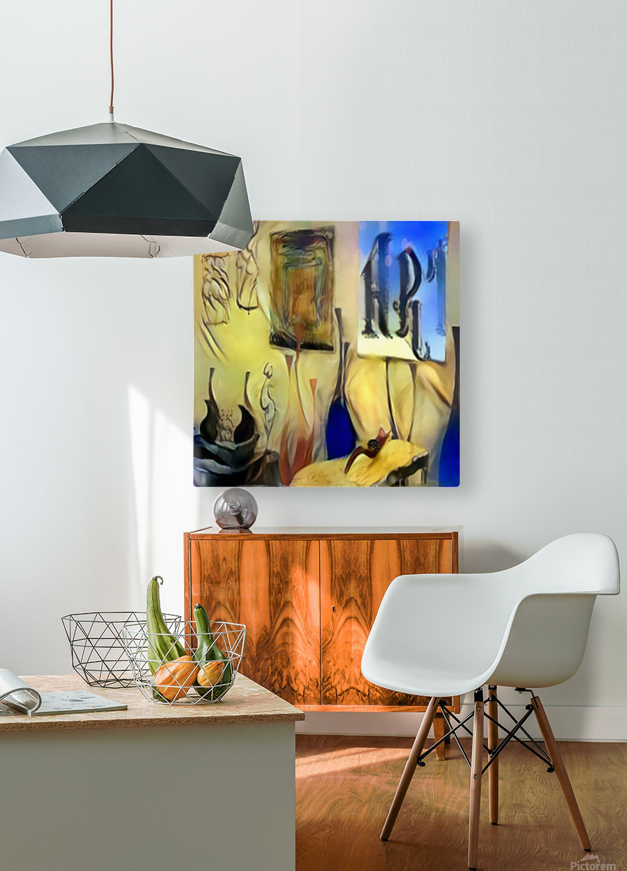 Room Art  HD Metal print with Floating Frame on Back