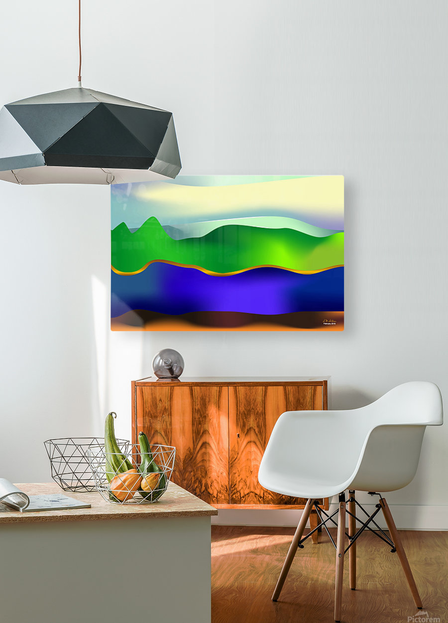 1-Serenity 1  HD Metal print with Floating Frame on Back