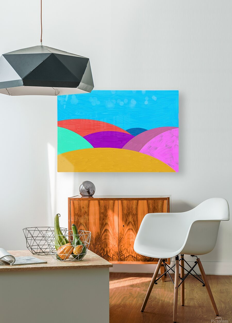 Fabulous hills  HD Metal print with Floating Frame on Back