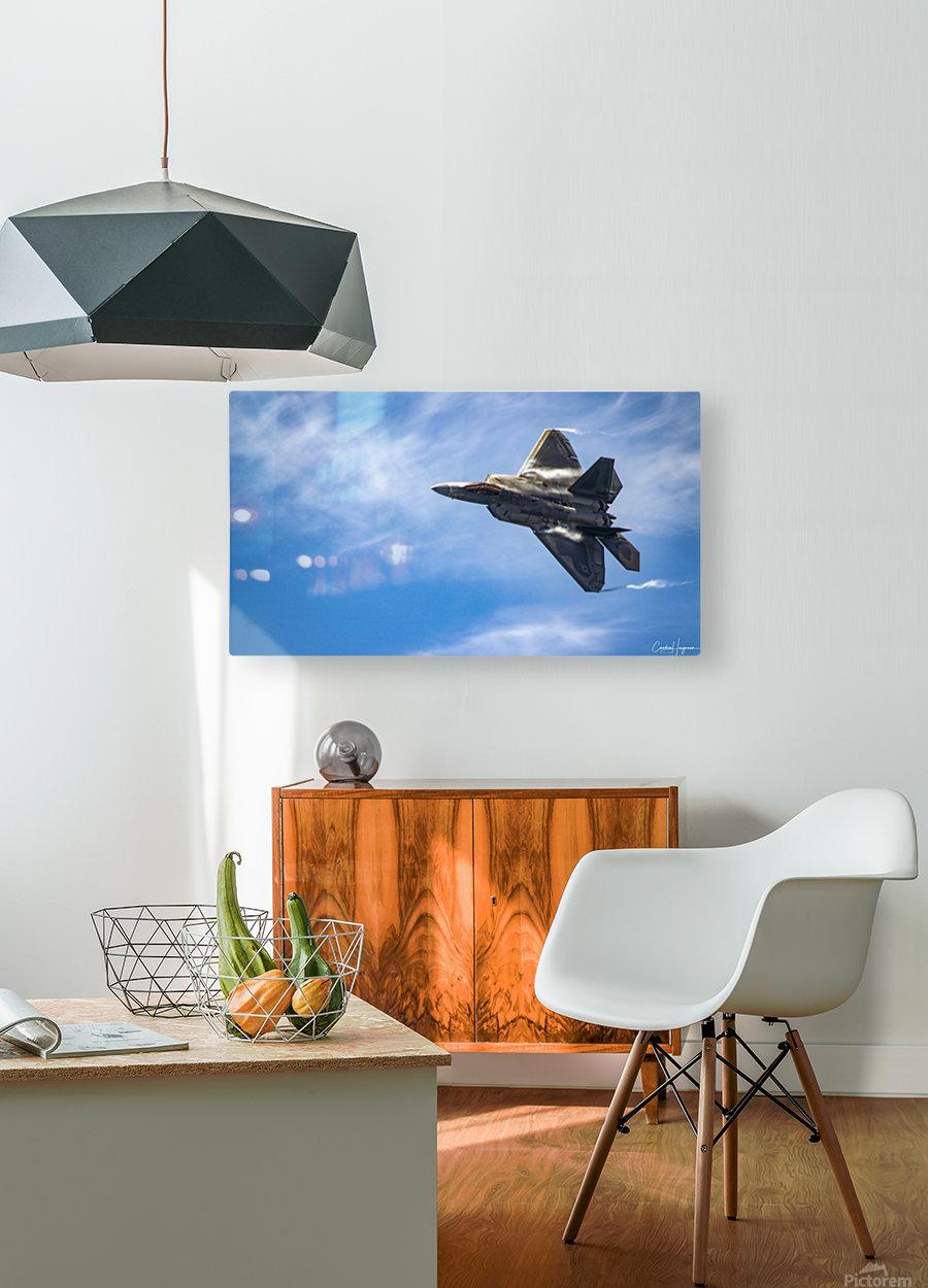 F-22 raptor  HD Metal print with Floating Frame on Back