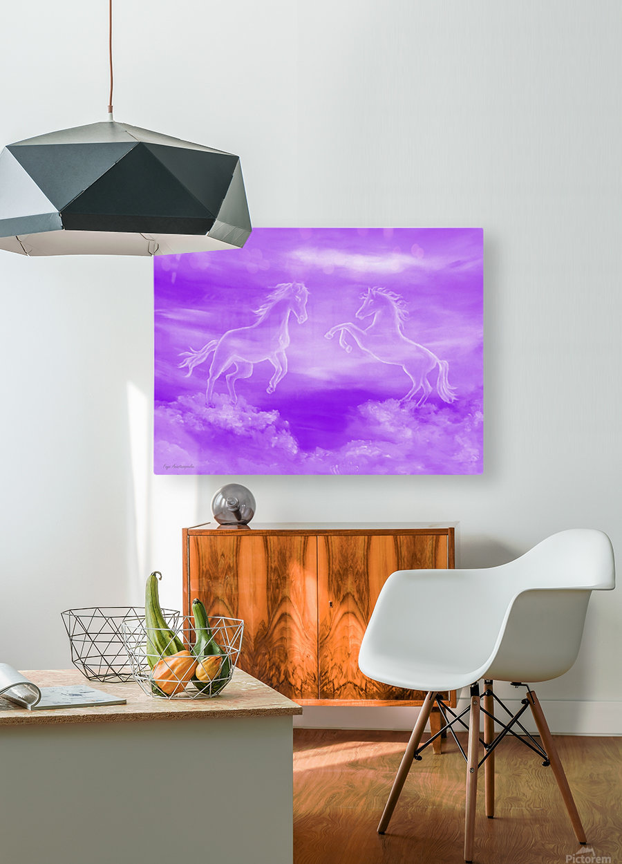 Spirit Horses  HD Metal print with Floating Frame on Back