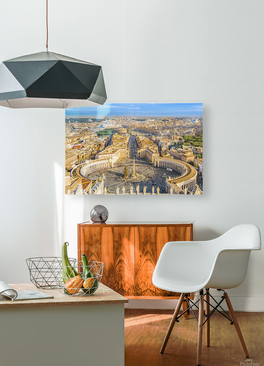 24996996 rome aerial view from saint peter basilica viewpoint  HD Metal print with Floating Frame on Back