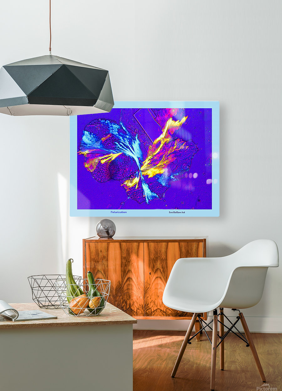 Polarization - Taken With High Powered Microscope  HD Metal print with Floating Frame on Back