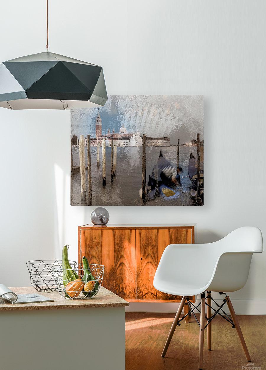 Venise le gondolier  HD Metal print with Floating Frame on Back