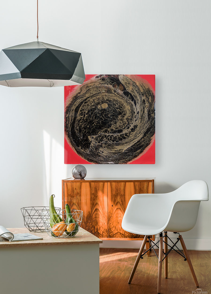 Fire Galaxy  HD Metal print with Floating Frame on Back