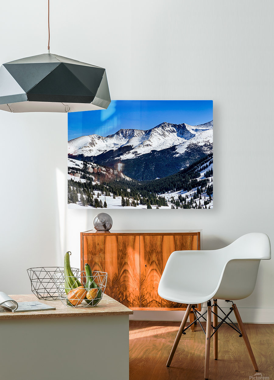 Copper Mountain  HD Metal print with Floating Frame on Back