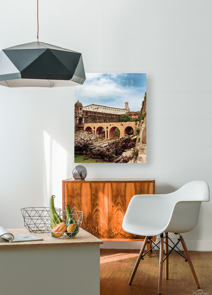 Fortaleza de Peniche  HD Metal print with Floating Frame on Back