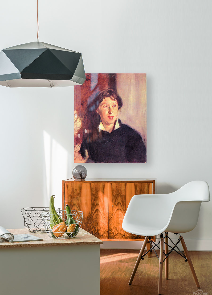Portrait of Vernon Lee by John Singer Sargent  HD Metal print with Floating Frame on Back