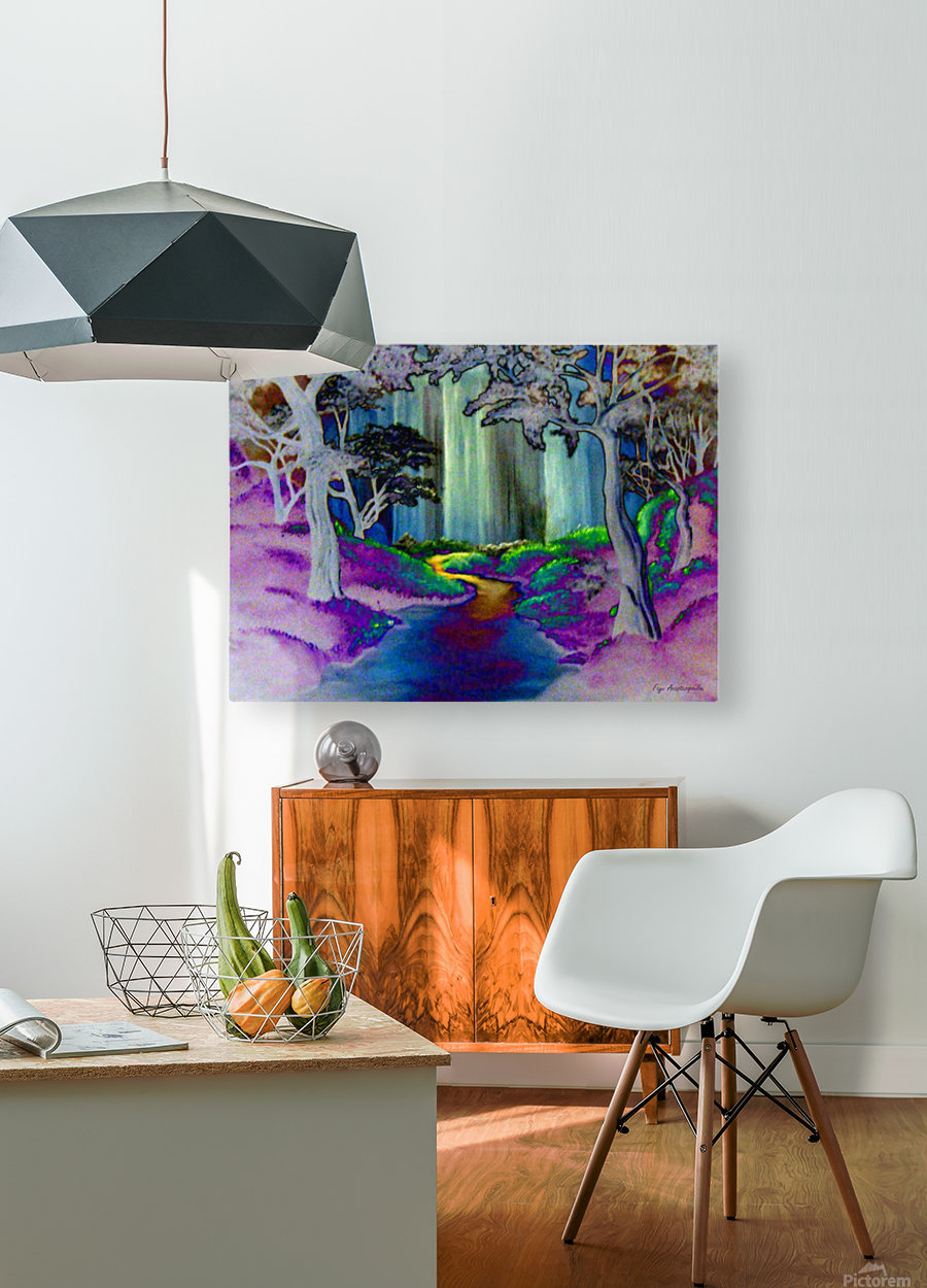 Forest Magic  HD Metal print with Floating Frame on Back