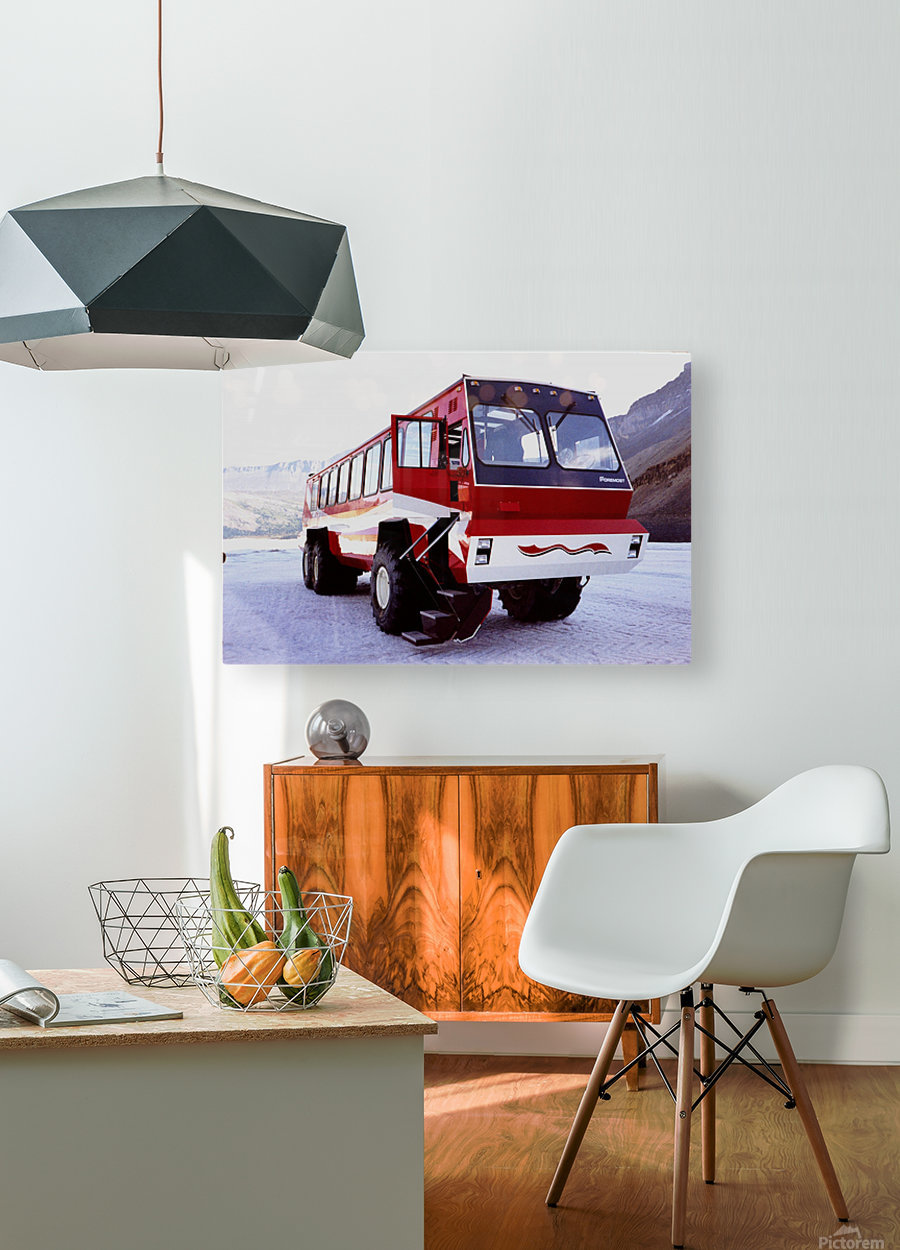 Snow Coach To The Columbian Ice Fields - Canada  HD Metal print with Floating Frame on Back
