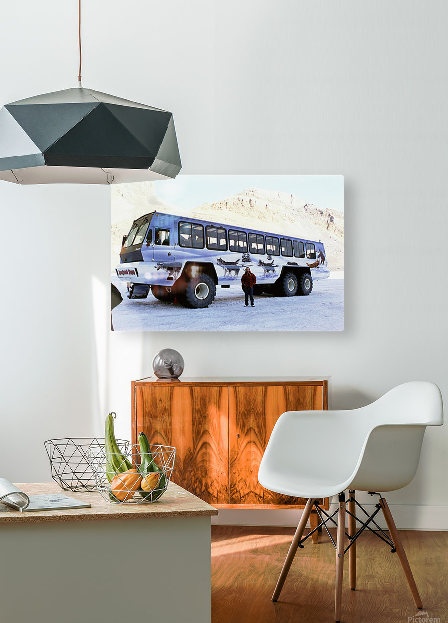 Ice Fields Transportation - Banff Canada  HD Metal print with Floating Frame on Back