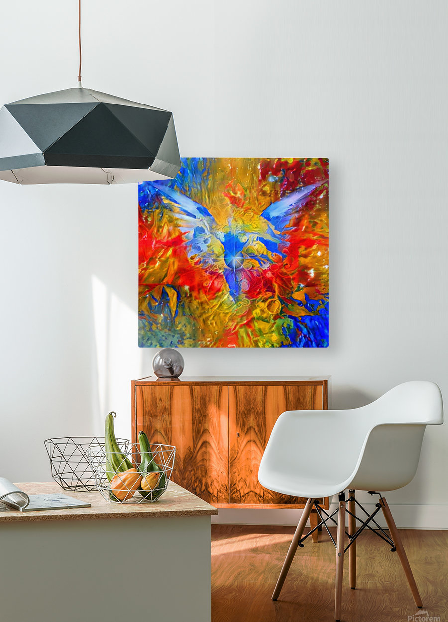 Flaming Eye of God  HD Metal print with Floating Frame on Back
