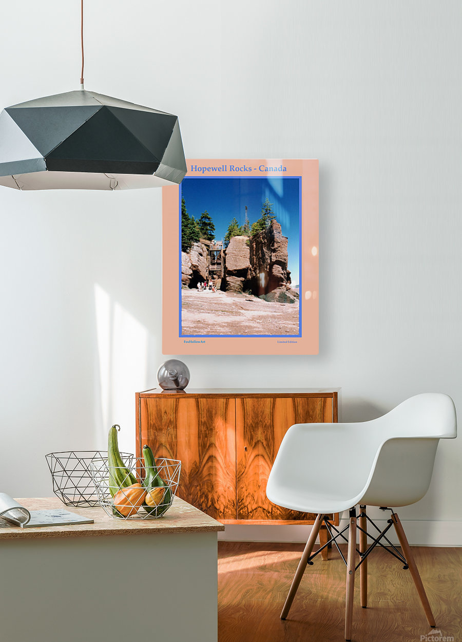 Hopewell Rocks - Canada  HD Metal print with Floating Frame on Back