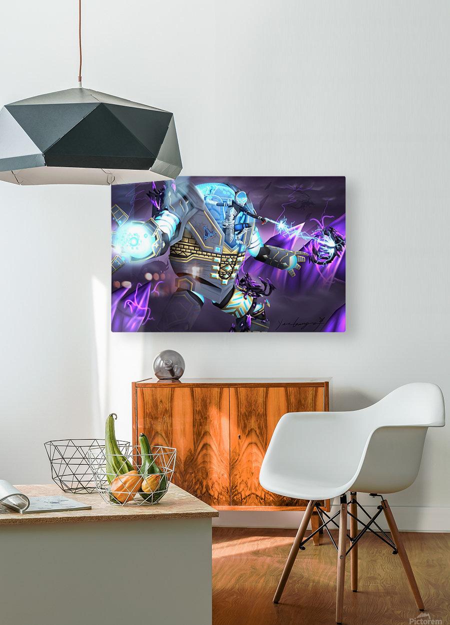 -Power Suit Fall-  Impression métal HD avec cadre flottant sur le dos
