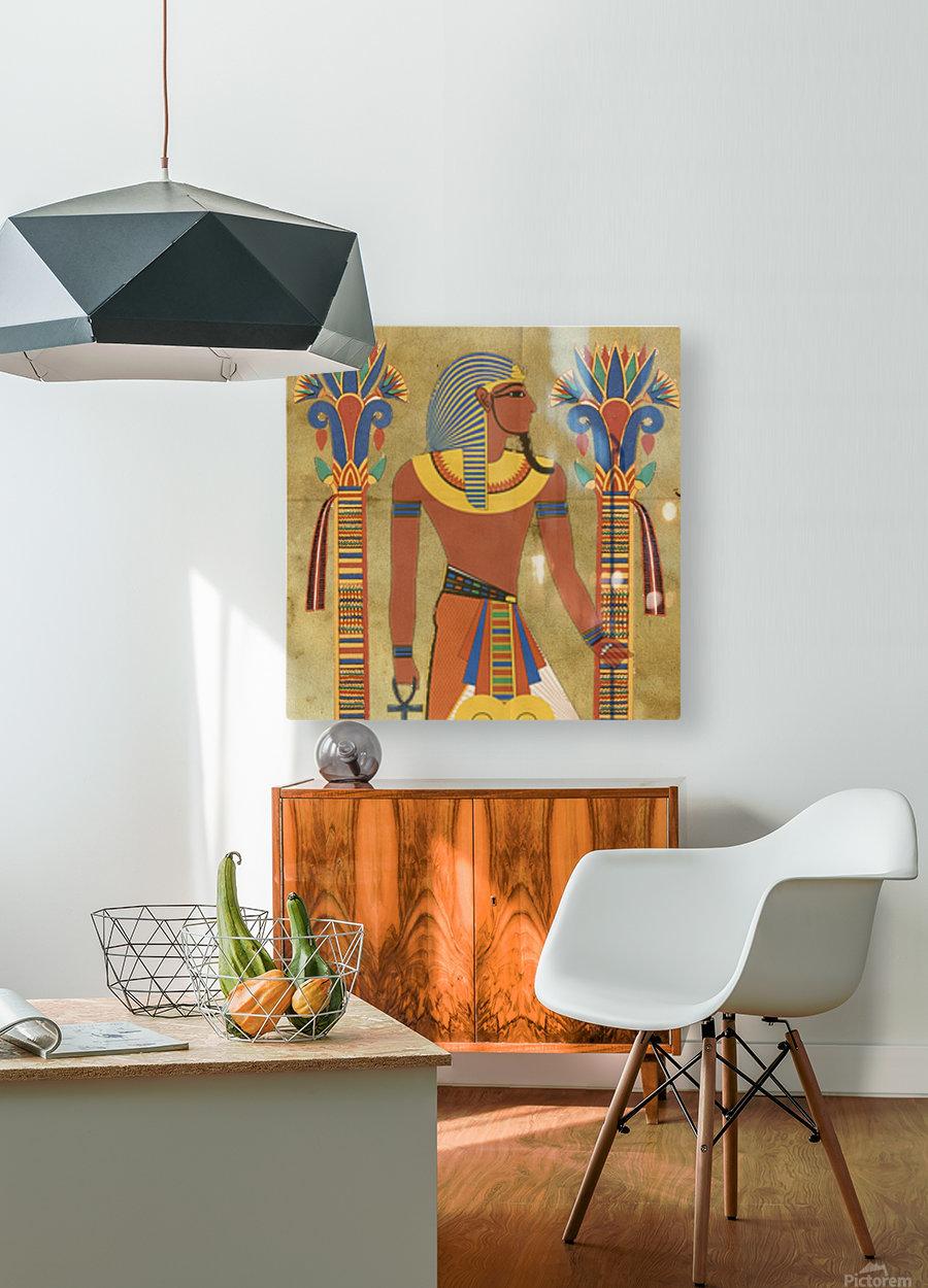 egyptian tutunkhamun pharaoh design  HD Metal print with Floating Frame on Back
