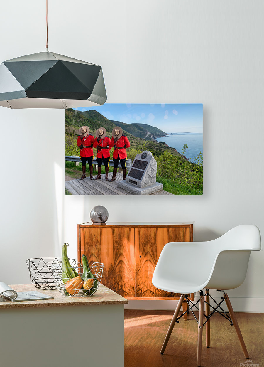 Respect and Honour - RCMP on French Mountain  HD Metal print with Floating Frame on Back