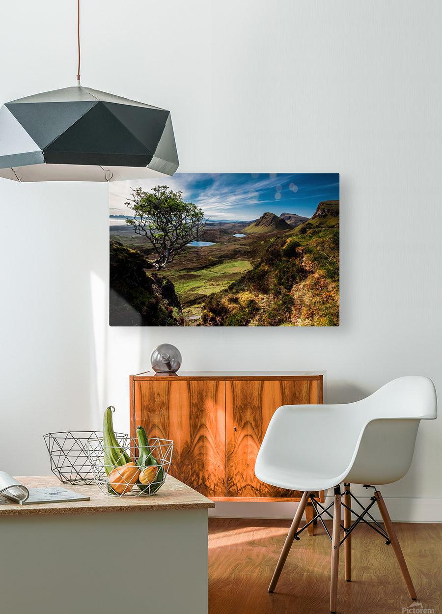 landscape quairaing scotland  HD Metal print with Floating Frame on Back