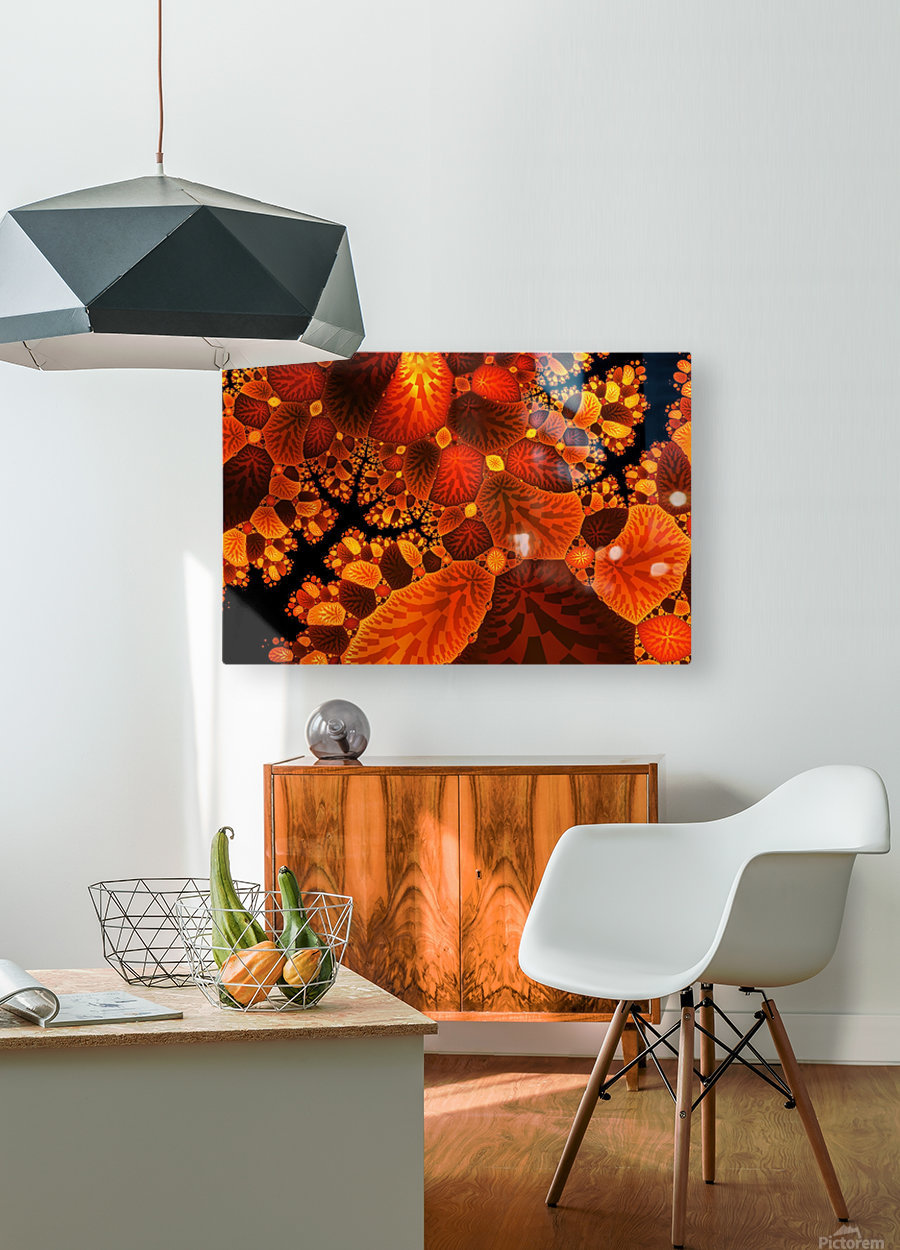 leaf autumn nature background  HD Metal print with Floating Frame on Back
